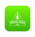 pirate drink icon green vector image vector image