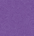 purple floral flower pattern doodle vector image