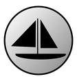 Sailing ship button vector image vector image