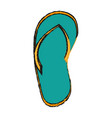 sandals icon image vector image vector image