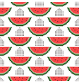 seamless pattern of pixel watermelons vector image vector image