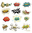 set of comics icons vector image vector image
