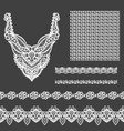 set of decorative lace elements for design and vector image vector image