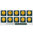 set of different icons exchange cryptocurrency vector image vector image