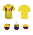 soccer jersey or football kit template for vector image vector image