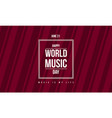 style banner world music day celebration vector image vector image
