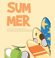 summer holiday concept beach party vector image vector image