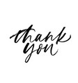 thank you phrase handwritten with a brush vector image