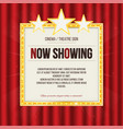 theater sign or cinema sign with stars on red vector image vector image