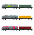 three types of train vector image vector image