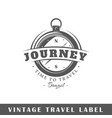 travel label vector image vector image