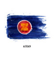 watercolor painting flag of asean vector image vector image