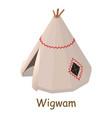 wigwam icon isometric 3d style vector image