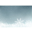 winter sky background with snow vector image vector image