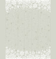 wooden grey christmas background with frame vector image