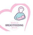 World breastfeeding week poster design