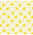 Yellow umbrella seamless pattern vector image