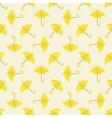 Yellow umbrella seamless pattern vector image