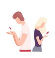 young man and woman with broken heart male and vector image vector image