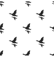 Ducks icon in black style isolated on white vector image