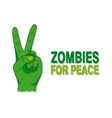 Cartoon of a green zombie hand vector image