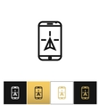 Phone navigation or travel mobile gps geolocation vector image