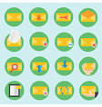 email communication icon in flat design vector image