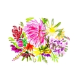Floral summer bouquet for your design vector image