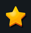 3d star shape icon cartoon style favorite rating vector image