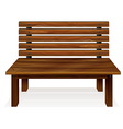A wooden bench vector image vector image