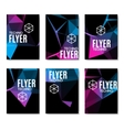 Abstract technology polygonal flyer set Modern