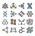 atoms molecules dna chromosomes colorful vector image