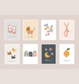 bachildren little kids cards posters in vector image vector image