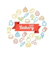 Bakery Shop Concept Outline vector image
