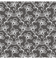 Black and white lace pattern vector image vector image