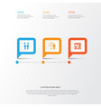 board icons set collection of special vector image vector image