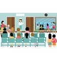 busy hospital corridor activities nurse patient in vector image
