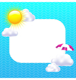 Card With Sun And Clouds vector image vector image