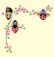cartoon birds in spring vector image