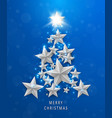 Christmas and new years blue background with