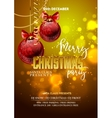 Christmas Party design template with decoration vector image vector image