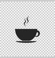 coffee cup icon on transparent background tea cup vector image vector image