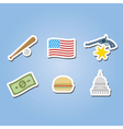 color set with usa icons vector image vector image