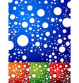 colorful background with random scattered circles vector image