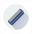 comb icon isolated on circle background vector image vector image