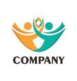 creative care concept logo design template vector image vector image