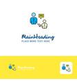 creative communication logo design flat color vector image