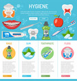 dental hygiene banner and infographics vector image
