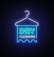 dry cleaning neon sign dry cleaning design vector image