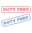 duty free textile stamps vector image vector image
